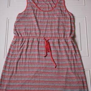 Olive & Oak Sleeveless Dress Gray & Orange
